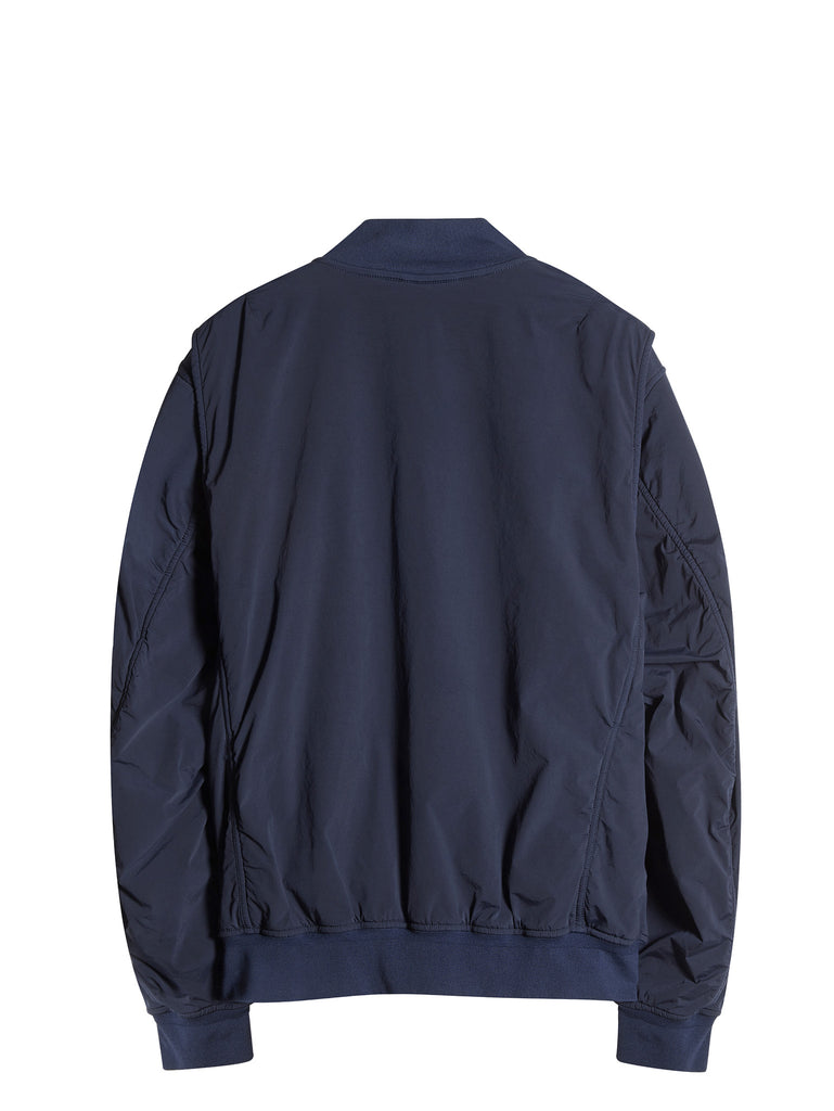 C.P. Company  NYCRA Stretch Nylon Shell MA1 Jacket with Arm Lens in Blue