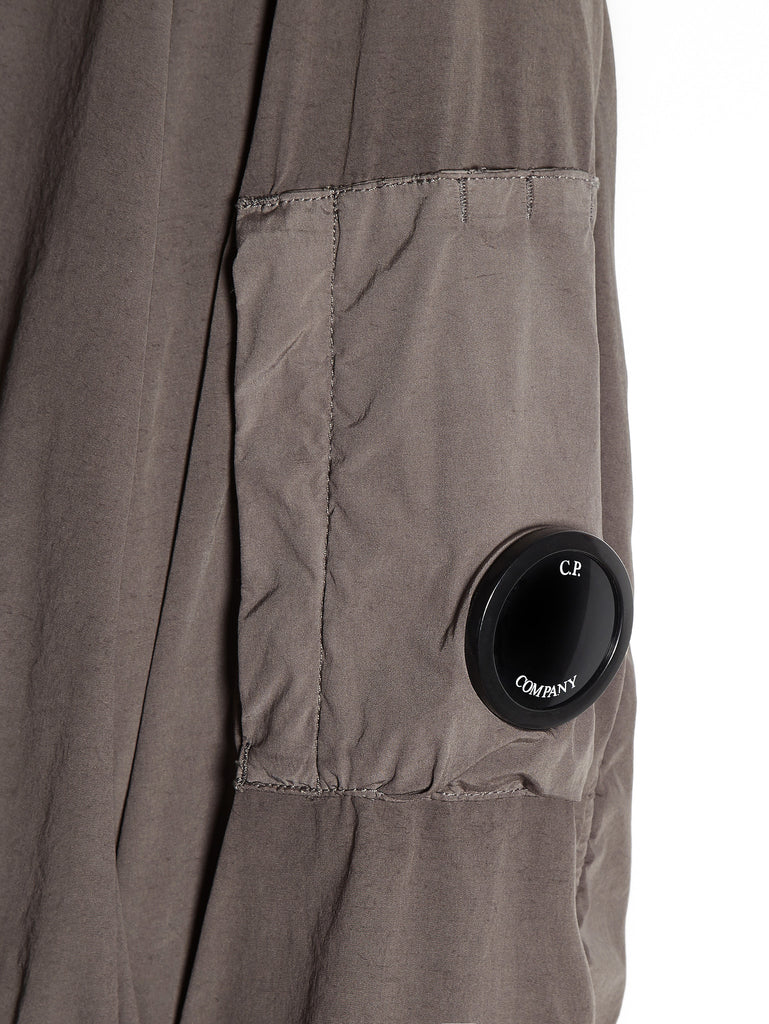 C.P. Company  NYCRA Stretch Nylon Shell MA1 Jacket with Arm Lens in Grey