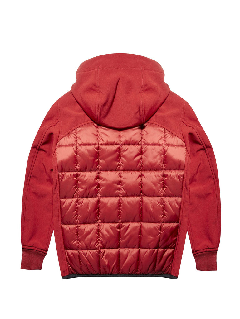 Undersixteen Hooded Blouson with Padded Chest in Red