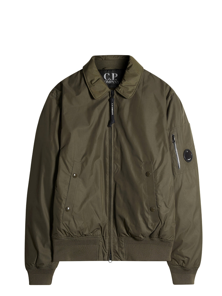 C.P. Company Micro-M Flight Jacket With Down Lining In Green