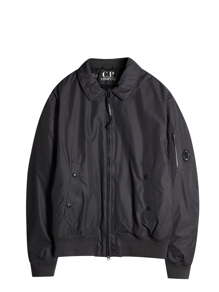 C.P. Company Micro-M Flight Jacket With Down Lining In Black