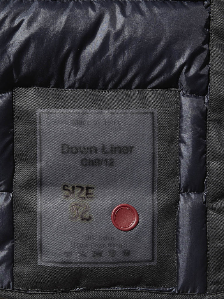 Ten c / Down Liner in Navy Blue