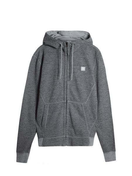 C.P. Company Hooded Zip Through Sweatshirt in Grey