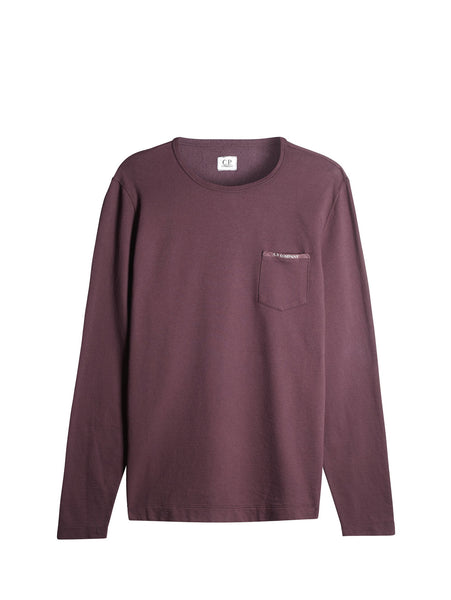 C.P. Company Garment Dyed Pocket Sweatshirt in Purple
