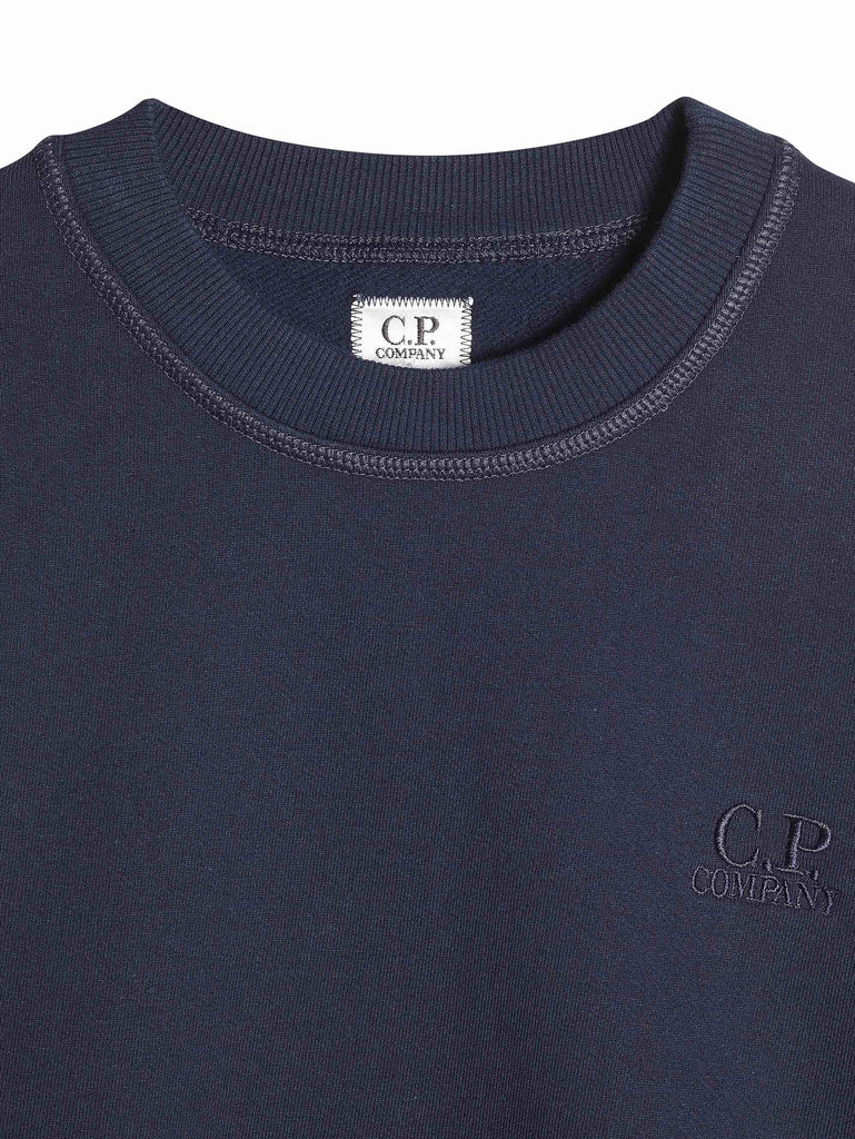 C.P. Company Mako Fleece Logo Sweatshirt in Navy
