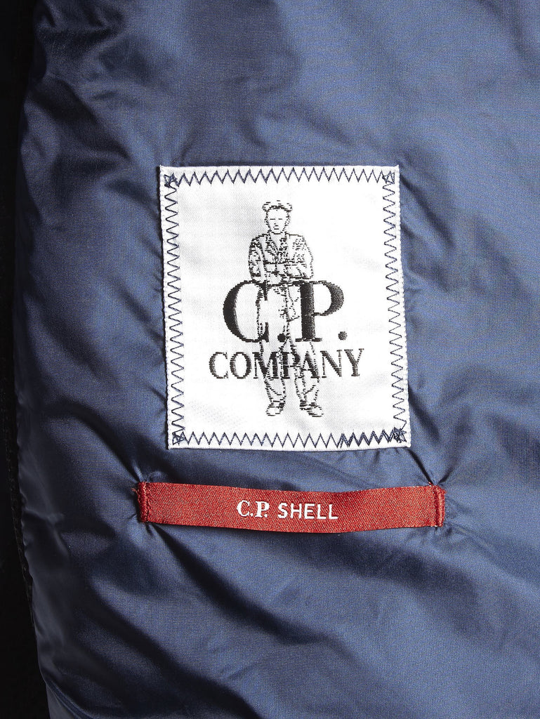 C.P. Company Goggle Jacket with Padded Chest in Blue