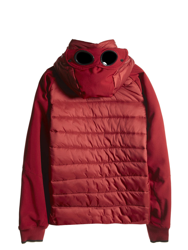 C.P. Company Goggle Jacket with Padded Chest in Red