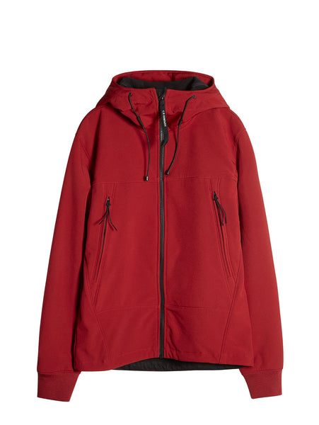C.P. Company Goggle Hooded Soft Shell Jacket in Red