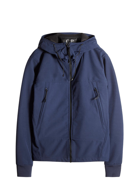 C.P. Company Goggle Hooded Soft Shell Jacket in Blue