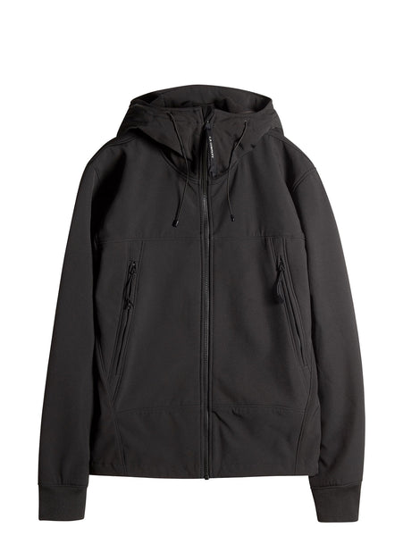 C.P. Company Goggle Hooded Soft Shell Jacket in Black