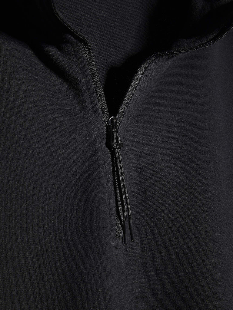 C.P. Company Lightweight Cotton Fleece Lens Zip Sweater in Black