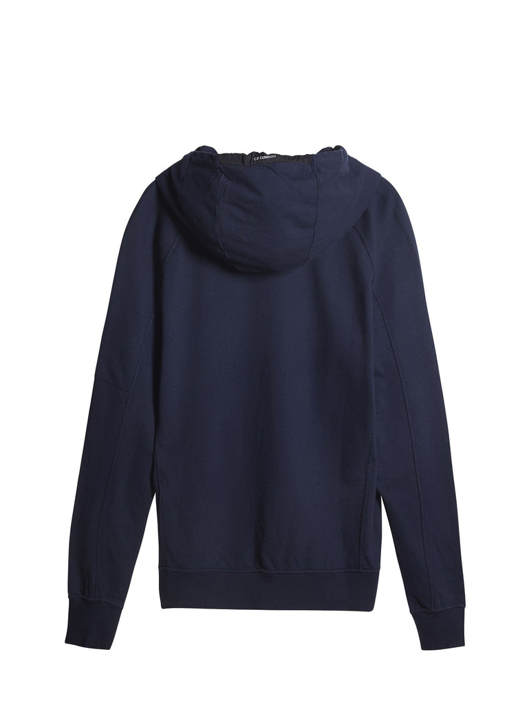 C.P. Company Hooded Light Fleece Sweatshirt in Blue