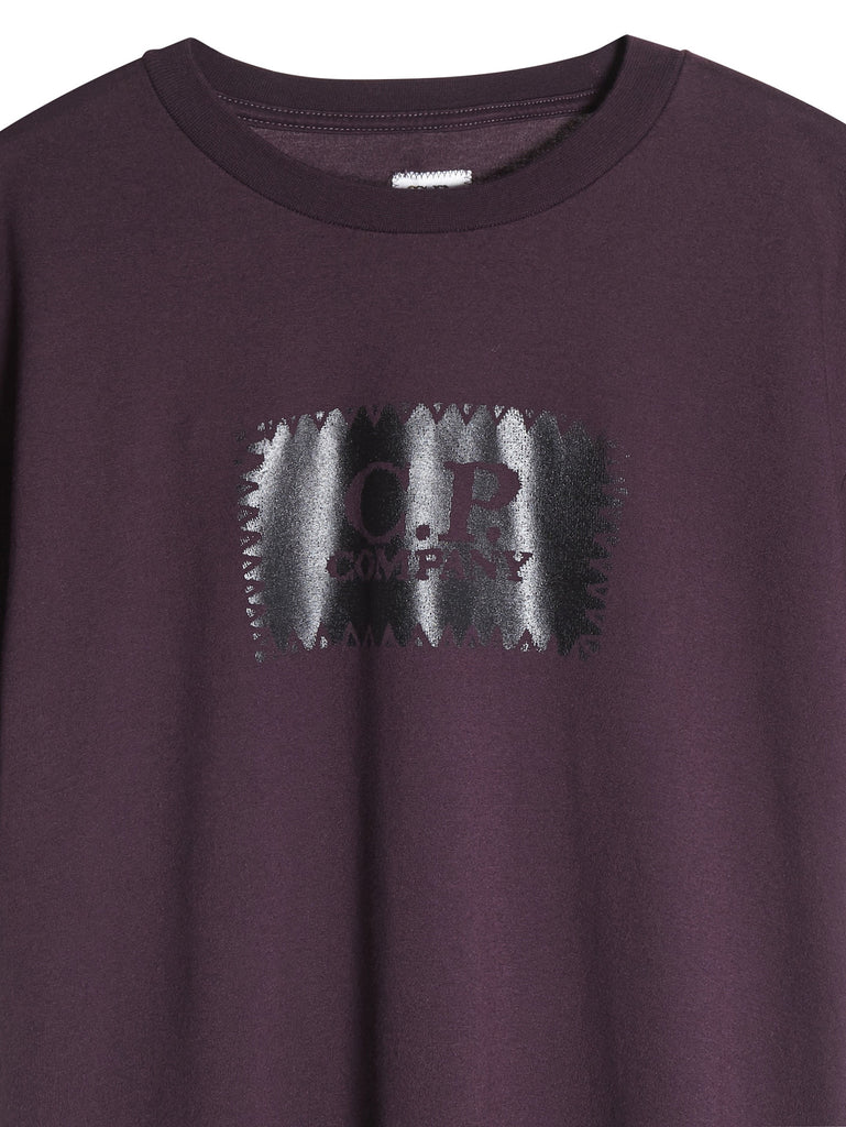 C.P. Company Graphic Label Print T-Shirt in Purple