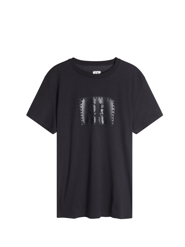 C.P. Company Graphic Label Print T-Shirt in Black