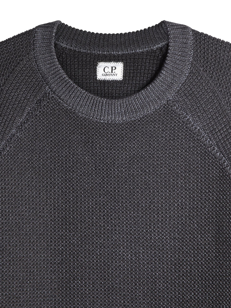 C.P. Company Fast Dyed Merino Wool Crewneck Jumper in Grey