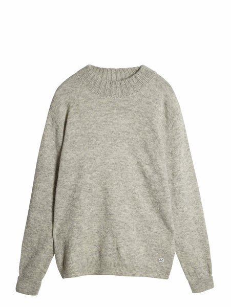 C.P. Company Alpaca Wool Knit in Light Grey