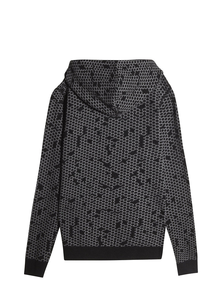 C.P. Company HOODED JACQUARD LAMBSWOOL SWEATER