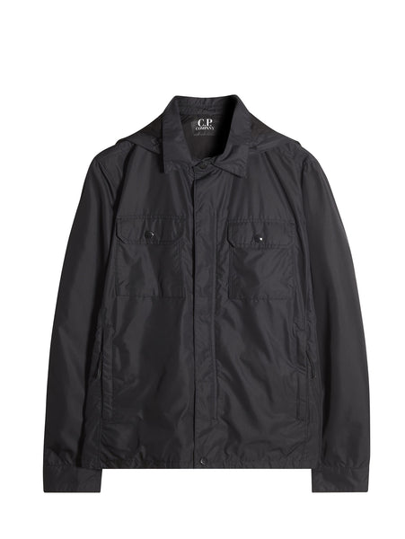 C.P. Company Micro-M Overshirt w/ Detachable Goggle Hood in Black
