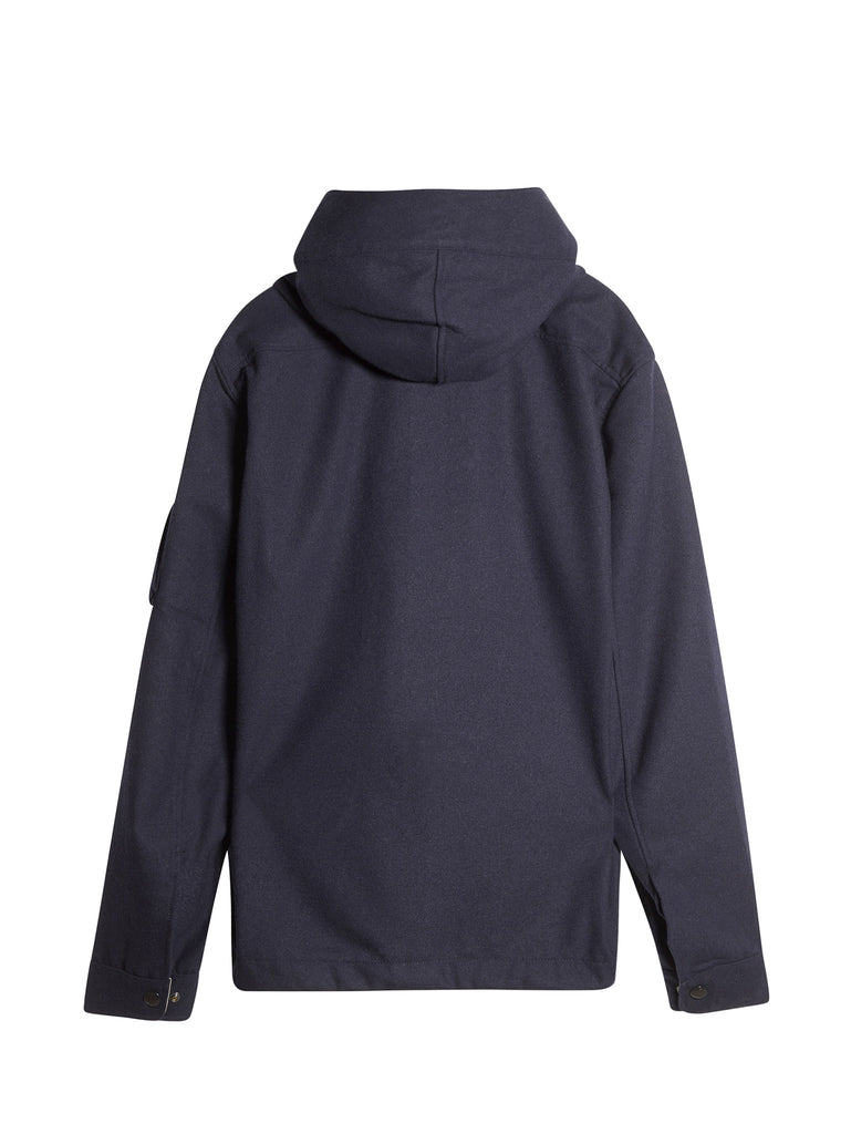 C.P. Company Panno Hooded Overshirt in Blue