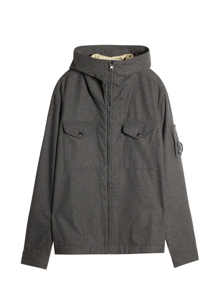 C.P. Company Panno Hooded Overshirt in Grey