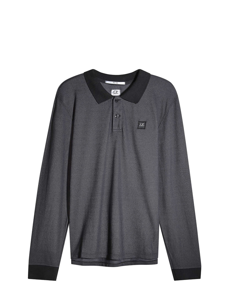 C.P. Company Long Sleeve Tacting Regular-Fit Polo Shirt in Black