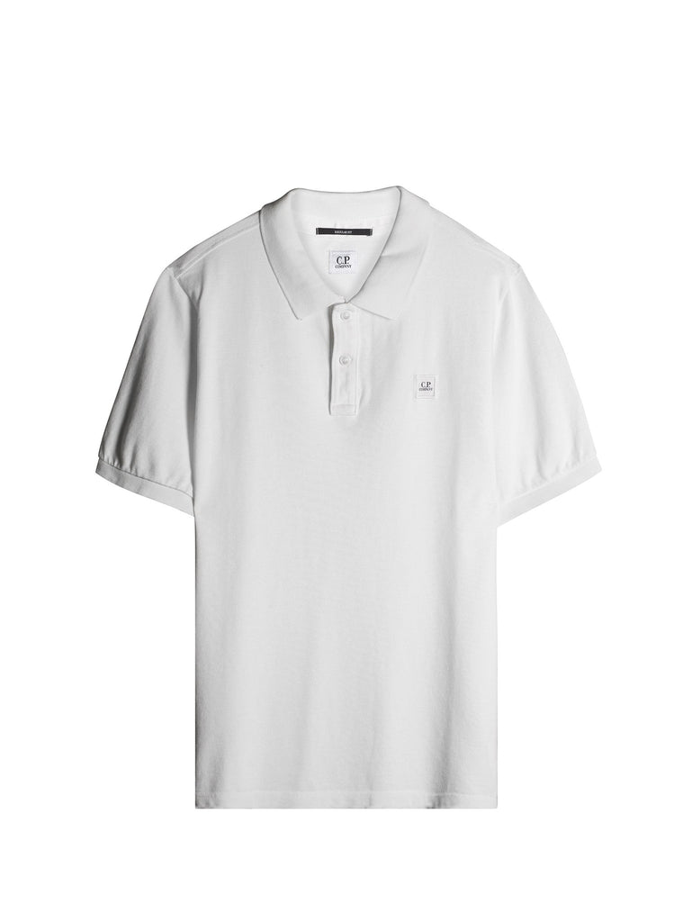 C.P. Company Cotton Pique Regular-Fit Polo Shirt in White