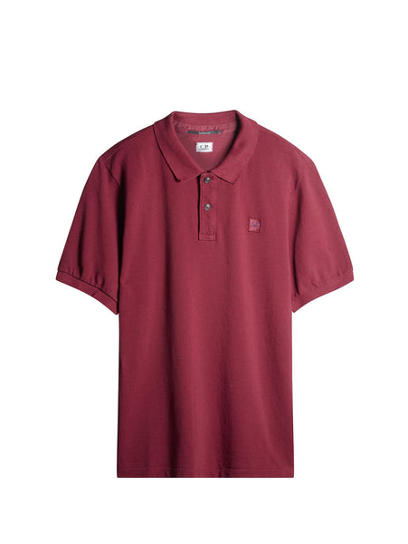 C.P. Company Cotton Pique Regular-Fit Polo Shirt in Cherry Red