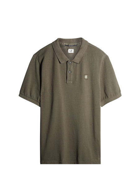 C.P. Company Cotton Pique Regular-Fit Polo Shirt in Green