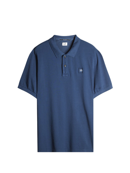 C.P. Company Cotton Pique Regular-Fit Polo Shirt in Blue