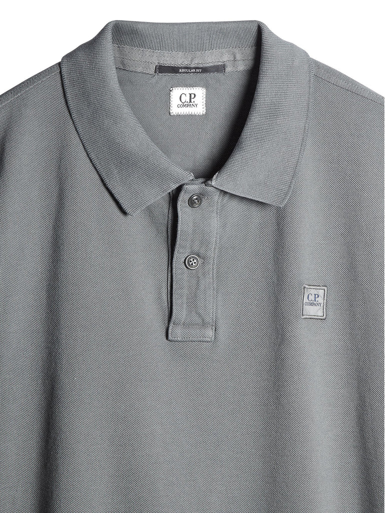 C.P. Company Cotton Pique Regular-Fit Polo Shirt in Grey