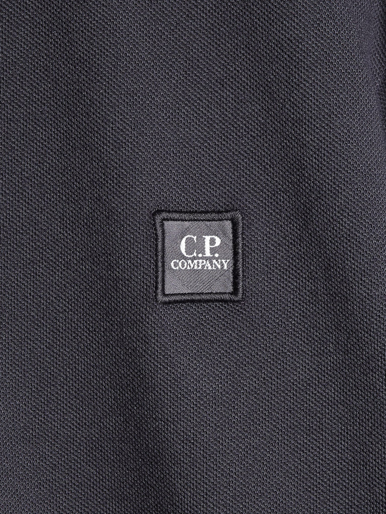 C.P. Company Cotton Pique Regular-Fit Polo Shirt in Dark Grey