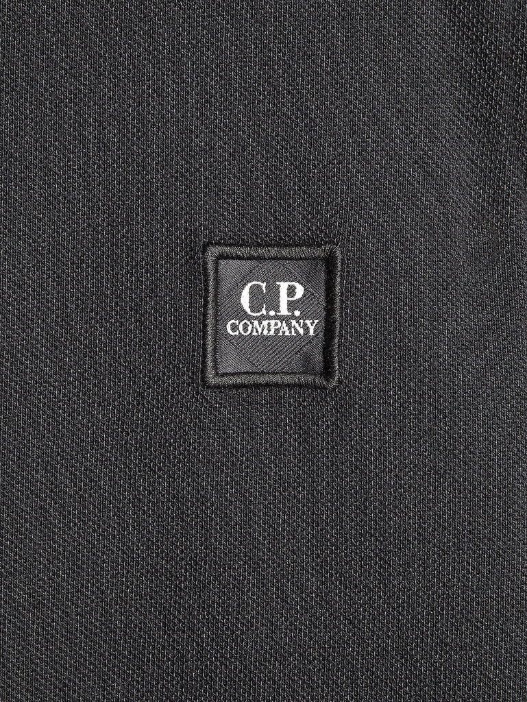 C.P. Company Cotton Pique Regular-Fit Polo Shirt in Black