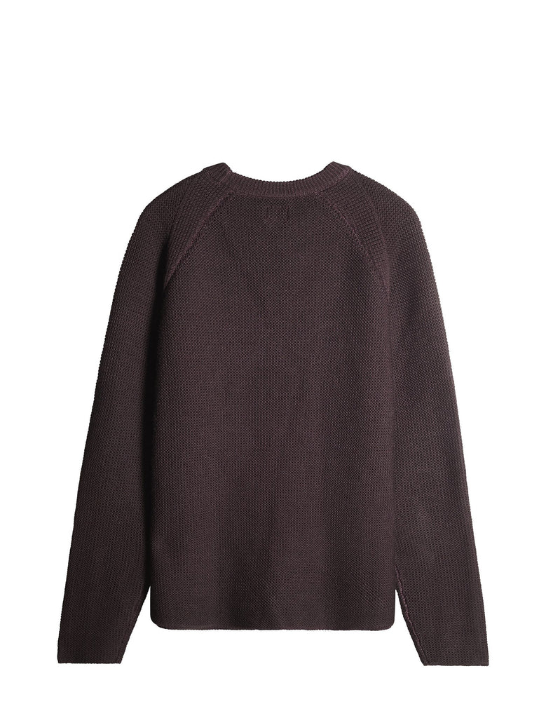 C.P. Company FAST DYED MERINO WOOL CREWNECK JUMPER IN PURPLE