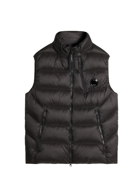 C.P. Company D.D. Shell Down Vest in Black