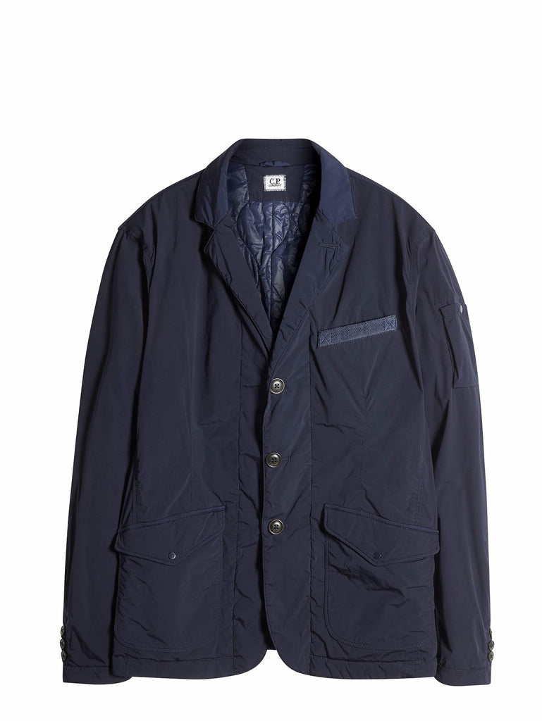 C.P. Company Garment Dyed Nycra Nylon blazer in Blue