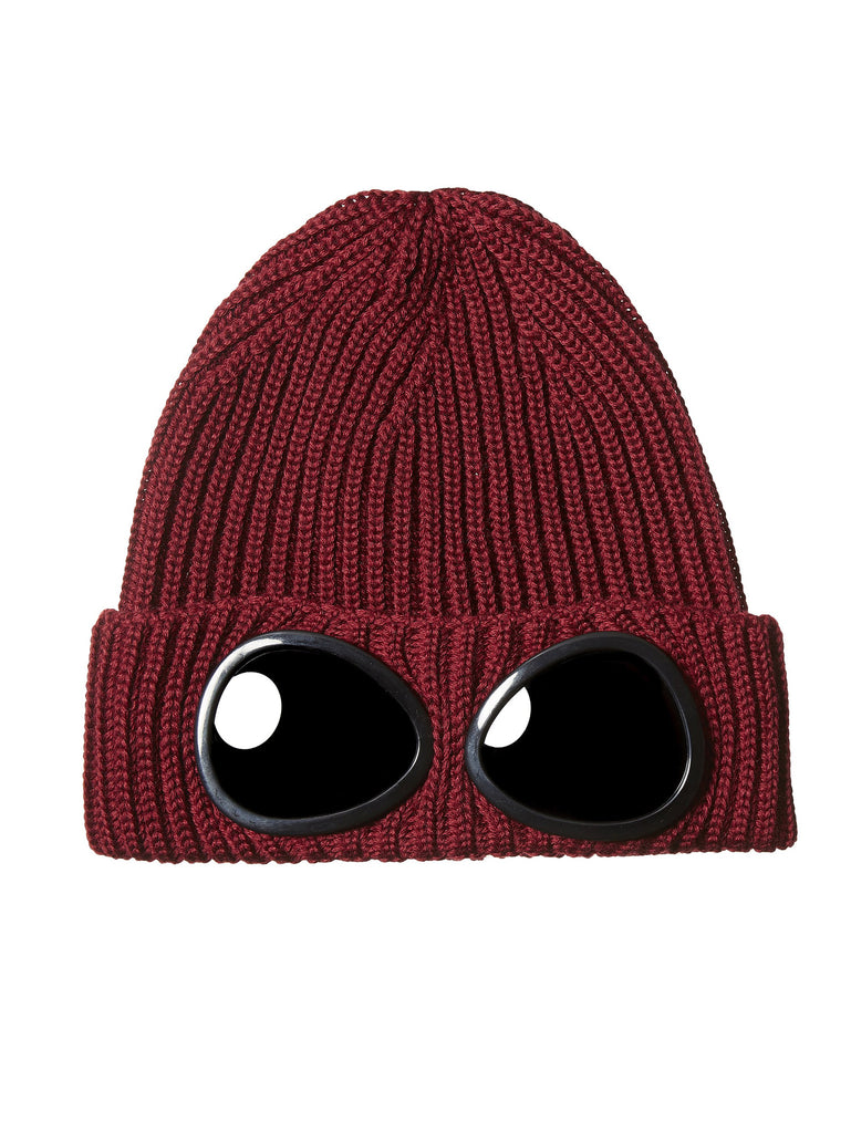 C.P. Company Merino Wool Goggle Hat in Red