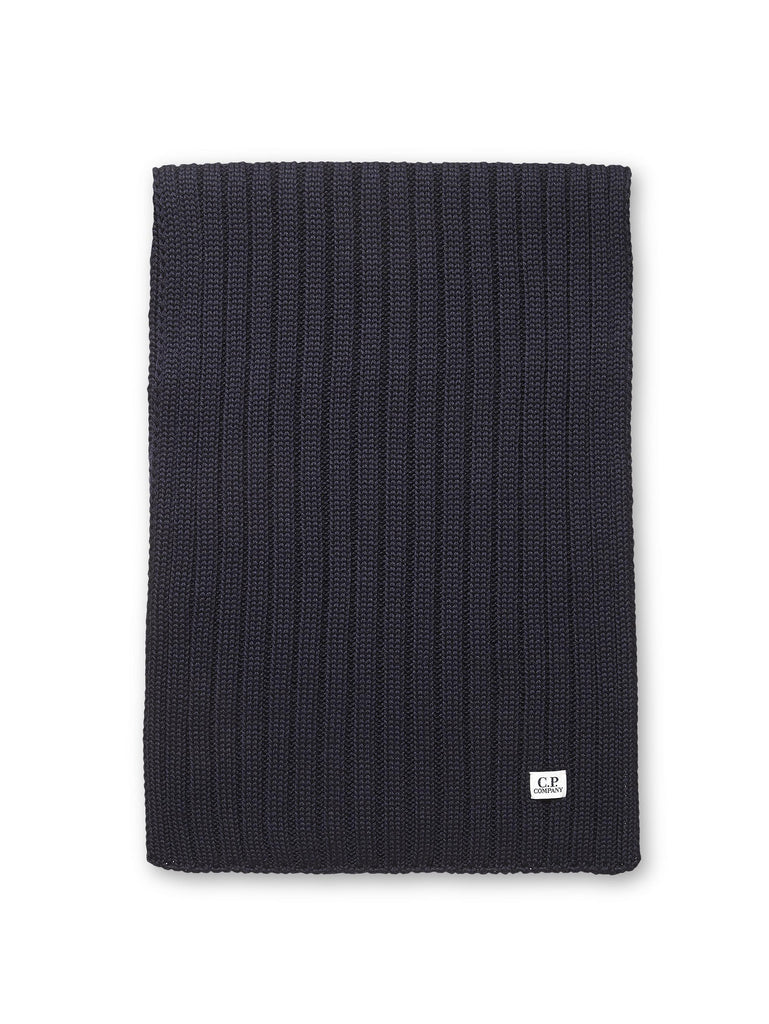 C.P. Company Merino Wool Scarf in Navy Blue