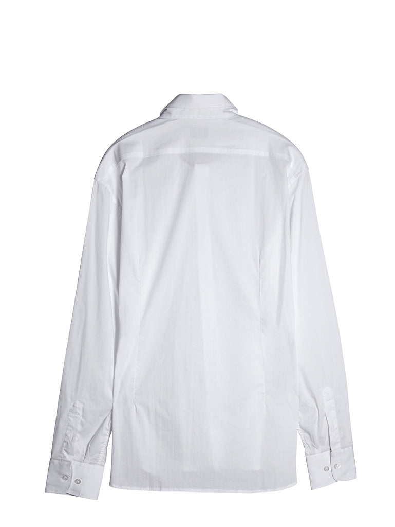 C.P. Company Long Sleeve Slim Fit Shirt in White
