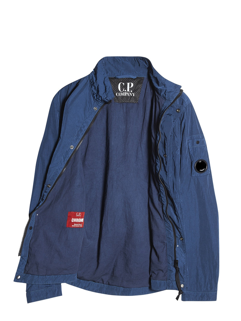 C.P. Company CHROME Multi-Filament Nylon Overshirt in Blue