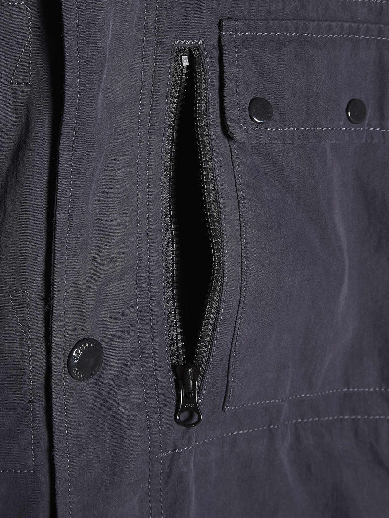C.P. Company Goggle Hooded Overshirt in Blue
