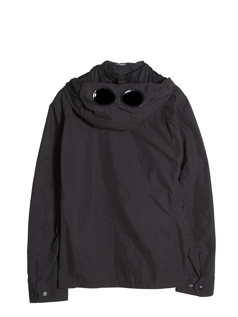 C.P. Company Goggle Hooded Overshirt in Black