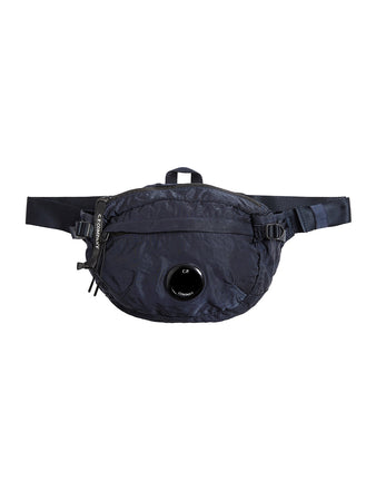 Garment Dyed Nylon B. Lens Waist Bag in Total Eclipse