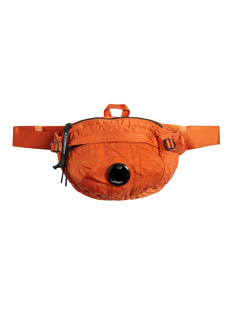 Garment Dyed Nylon B. Lens Waist Bag in Spicy Orange