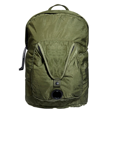 GD Sateen Lens Backpack in Pesto