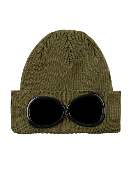 Cotton Goggle Hat in Olive Branch