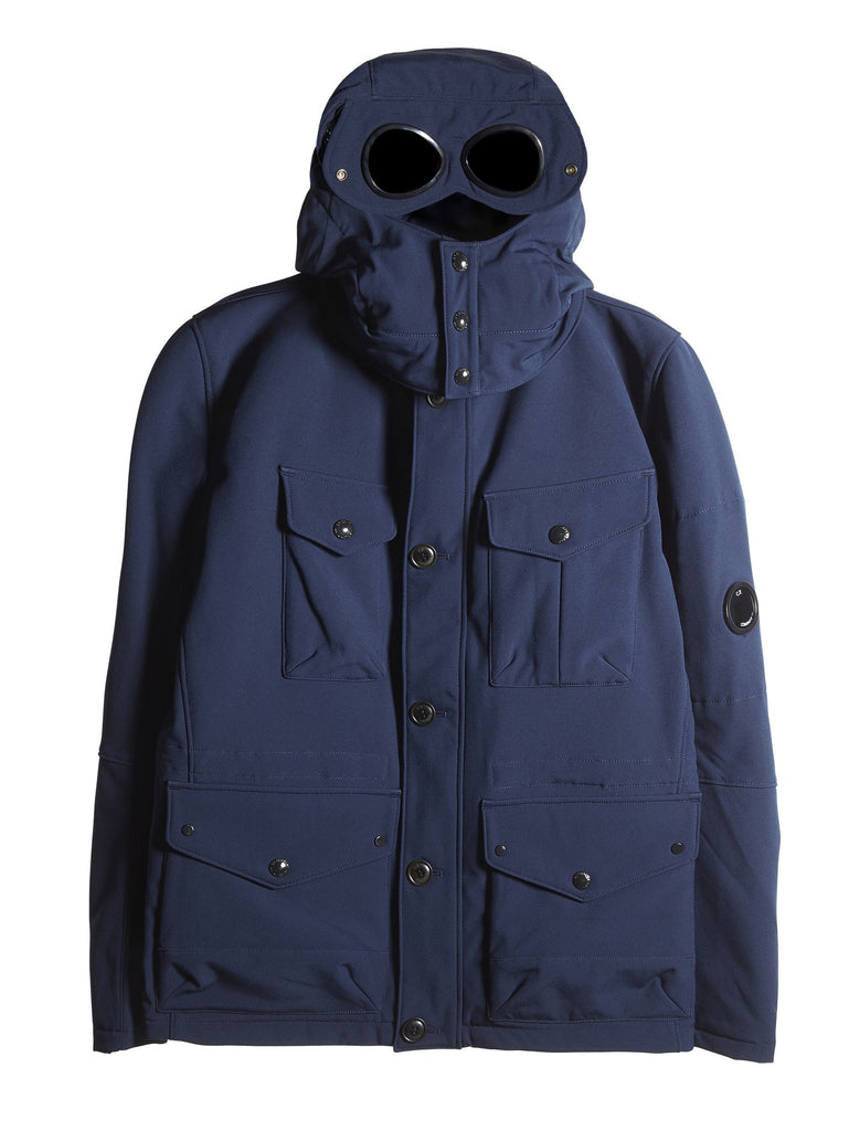 C.P. Company Shell Goggle Field Jacket in Blue