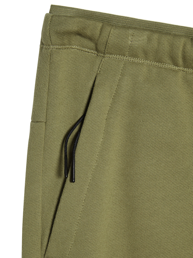 Diagonal Raised Fleece Logo Sweatpants in Martini Olive
