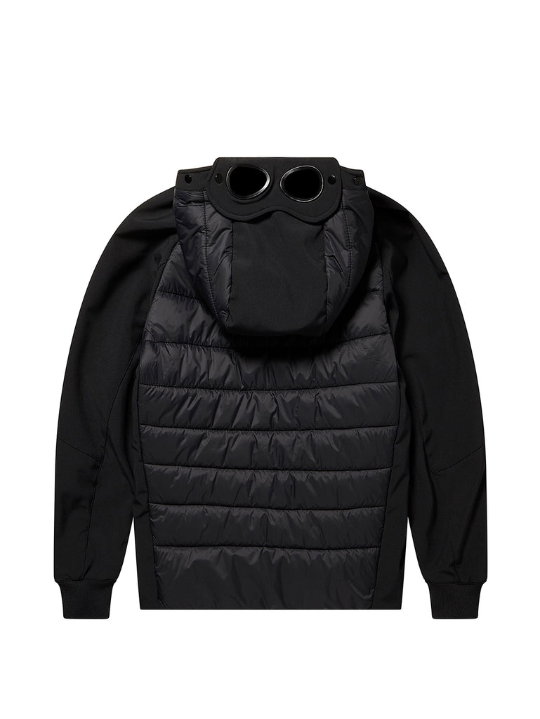 Undersixteen C.P. Shell Nylon Mix Hooded Goggle Jacket in Black