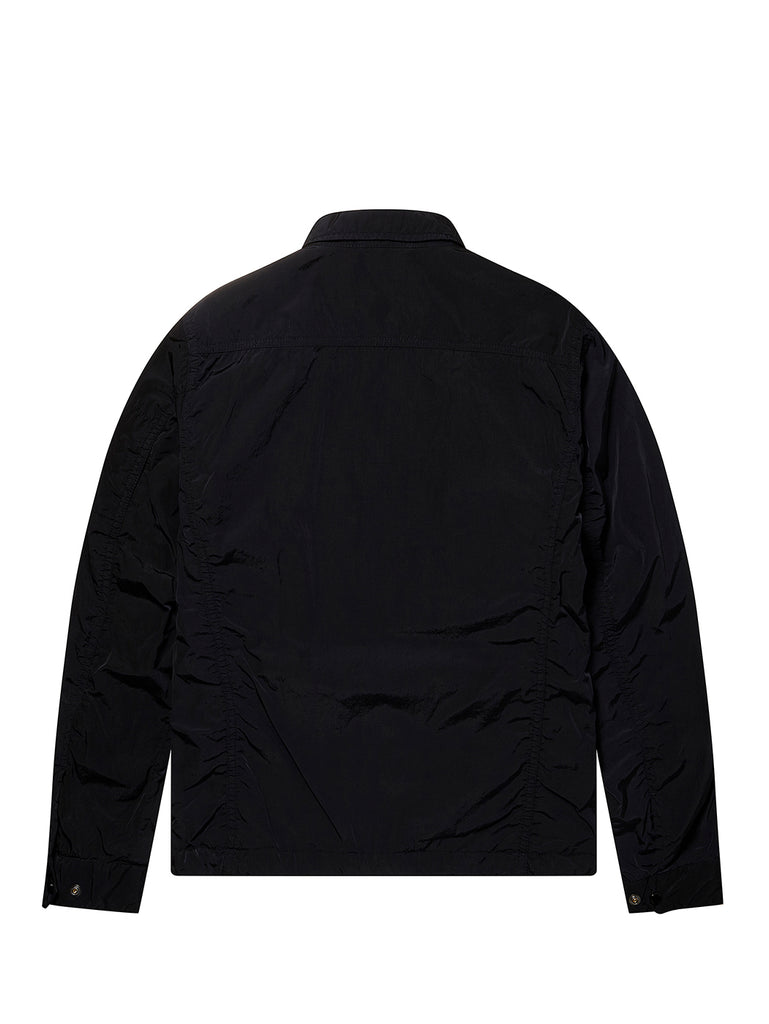 Undersixteen Chrome GD Utility Zip Overshirt in Total Eclipse