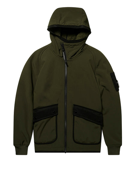 Undersixteen Zip Fleece Hoodie in Green